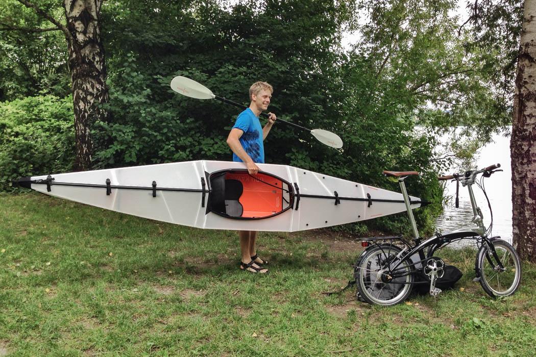 Storing Bikes On Boats: Folding Bike And Folding Kayak