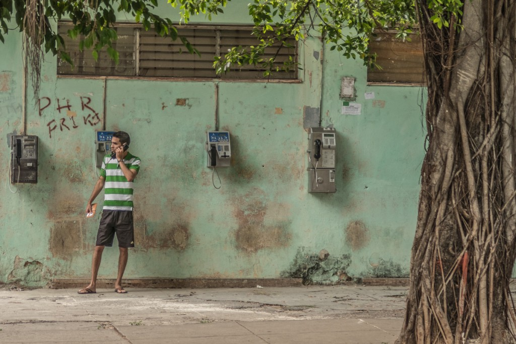 Public phones in Havanna