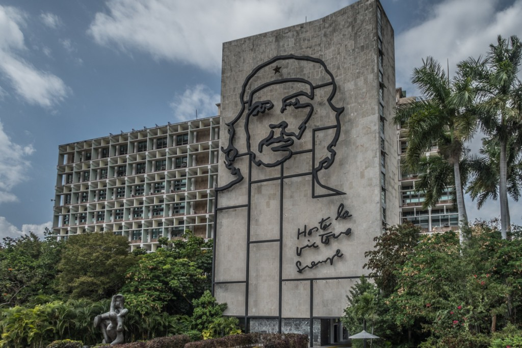 Iconic Che on the ministry in Havanna